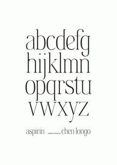 Aspirin Typeface