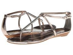 Every girl needs a great metallic sandal. via StyleList | http://aol.it/1kayJ5N