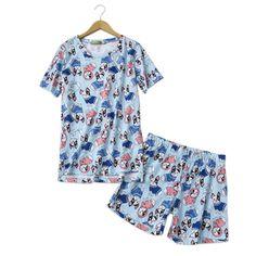 7c10151225386 Cute Short Dogs Pajamas Sets Women Short Sleeves Cotton Casual Kawaii  Pyjamas Summer Women Shorts Sleepwear 2 Piece