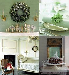 mint and gold inspiration board holiday Christmas