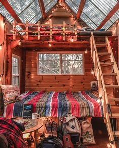 The tiny house is the latest house decoration concept, and this is a new trend and a lifestyle choice. Many people are happy to accept this new house idea. Tree House Designs, Tiny House Design, Cozy Cabin, Cozy House, Future House, Tree House Interior, Cozy Room, Aesthetic Bedroom, Cabin Homes