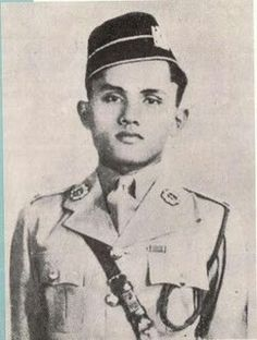 The Unforgettable Warrior  For those who don't know him, He is Leftenan Adnan bin Saidi, (1915 - 14 February 1942). He was a Malayan soldier of the 1st Infantry Brigade which fought the Japanese in the Battle of Bukit Candu. Although heavily outnumbered, Adnan refused to surrender and urged his men to fight until the end. They held off the Japanese for two days amid heavy enemy shelling and shortages of food and ammunition. Adnan was shot but carried on fighting.