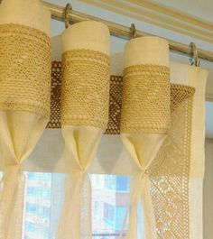 Goblet pleat with lace border