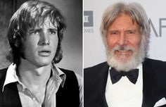 Harrison Ford (1970 and 2016) - Everett Collection/REX; David Livingston/Getty…
