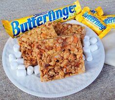 Butterfinger Rice Crispy Treats