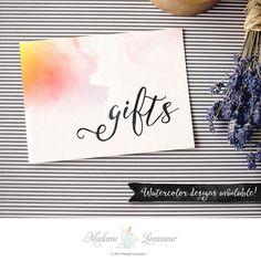 Printable Gifts sign wedding signs DIY wedding by MadameLevasseur