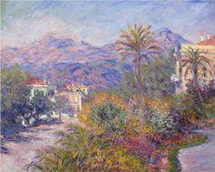 Strada Romada in Bordighera - Claude Monet