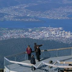 Overlooking Hobart from Mount Wellington - Hobart, Tasmania ** BTDT on a school trip back in about Coast Australia, Australia Travel, Hobart Accommodation, Oh The Places You'll Go, Places To Visit, Big Island, New Zealand, Sydney, Beautiful Places