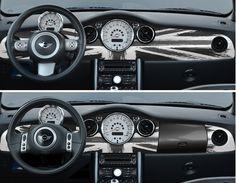 Planse de bord Super Click Covers Uk flag vintage black/white R50/R52/R53 - Tuningshop only for fashion cars