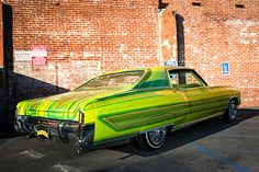 Jose Guizar wanted to pay tribute to the and what better way to do it than by building one of the most iconic cars of that decade, a Monte Carlo. Chevrolet Monte Carlo, Custom Paint Jobs, Custom Cars, Hydraulic Cars, Roof Paint, Lowrider Bike, Paint Stripes, Trucks And Girls, Bad To The Bone