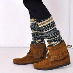 Fringe moccasins and tribal leggings