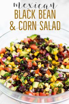 Corn Salad Recipes, Salad Recipes For Dinner, Corn Salads, Healthy Salad Recipes, Vegetarian Recipes, Lentil Recipes, Healthy Salad Dressings, Recipes With Beans Healthy, Mexican Salad Dressings