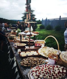 Potluck wedding? If you are having a small and intimate wedding with close friends and family, ask guests to bring their favorite dessert ( along with a recipe) and wine. This works really well if you are having a dessert reception in the evening or serving simple finger foods