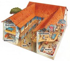 Typical Ancient Greek House '' Oikia ''