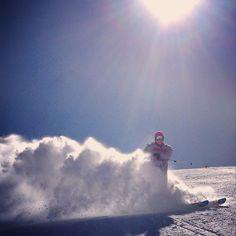 Serfaus #ski #skiing #sunnydays #spray #austria