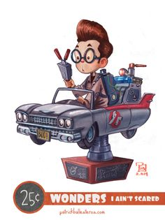 I Ain't Scared - 25 Cent Wonders - The Art of Patrick Ballesteros #ghostbusters