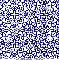 Floral ornament, Mediterranean seamless pattern, tile design, vector illustration