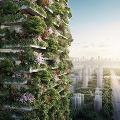 "Italian architect Stefano Boeri has unveiled plans for China's first ""vertical forest"", a pair of towers covered with trees and trailing plants in Nanjing"