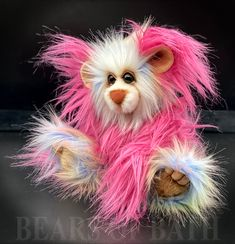 Passion Flower a Capability Bear Pink Animals, Royal Blue And Gold, Passion Flower, Main Colors, How To Introduce Yourself, Sculpting, Pattern Design, Bears, Teddy Bear