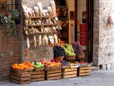 Siena, Italy. Fruit Shop