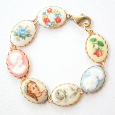 Vintage Cameo Bracelet by NestPrettyThingsShop on Etsy, $36.00