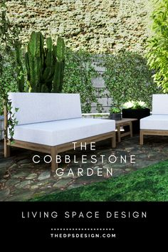 The Cobblestone Garden and Deck Design. Landscape Design and 3D Architecture Rendering, Los Angeles. For designers and homeowners, for new buildings and remodel projects. At The DPS Design we create unique Outdoor Living Space designs as well as realistic 3D Renderings for Gardens, Decks, and Terraces. #renderingarchitecture #3Drendering #smallgarden #landscapedesign #gardendesign #backyarddesign Garden Design Layout Modern, Contemporary Garden Design, Landscape Design Plans, Terrace Design, Small Garden Design, Patio Design, Backyard Layout, Backyard Plan, Indoor Outdoor