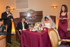 Sweetheart table at University Club downtown Orlando