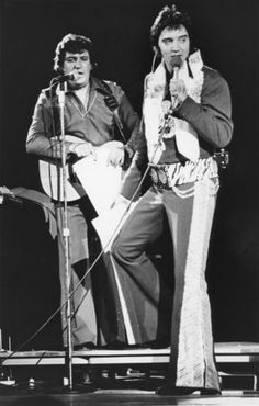 Elvis Presley performs at the Von Braun Civic Center May 30, 1975. (Tony Triolo/The Huntsville Times)