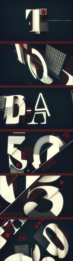 pinterest.com/fra411 #typographic - Today is 50/50 by Mardo El Noor