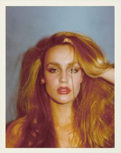 Jerry Hall photographed by Antonio Lopez, 1974.