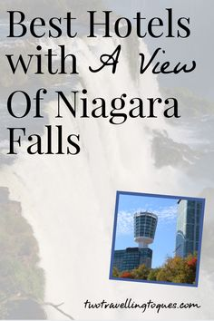 What are the best hotels with a view of Niagara Falls? There are a few different options to choose from. After all, the whole point of visiting Niagara Falls is to see the falls. So why not get a room with a view and watch the Niagara Falls light show from the warmth and comfort of your own room. #twotravellingtoques #niagrafalls #travelontario
