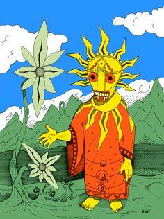 El Sol - The Sun - Federico Abuyé - Ilustración - Illustration - Arte - Arts
