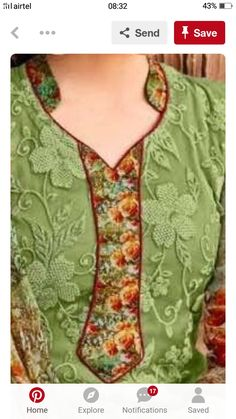 Chudidhar Designs, Chudidhar Neck Designs, Salwar Neck Designs, Kurta Neck Design, Neck Designs For Suits, Neckline Designs, Kurta Designs Women, Blouse Neck Designs, Neck Patterns For Kurtis