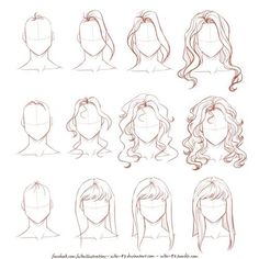 Ideas Fashion Drawing Tutorial Sketches Hair Reference For 2019 Drawing Techniques, Drawing Tips, Drawing Sketches, Painting & Drawing, Drawing Ideas, Drawing Style, Hair Styles Drawing, Sketch Ideas, Easy Hair Drawings