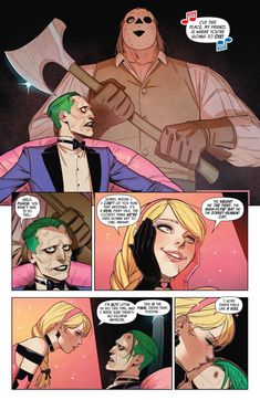 Joker admitted he was jealous of Harley Quinn's death traps, but then again maybe he just said that to mess with her head. From - Batman: Prelude To The Wedding - Harley Quinn VS The Joker Damian Wayne, Harley Quenn, Joker Dc, Harley Batman, Harley Quinn Comic, Comics Story, Batman Family, Detective Comics, Comic Book Characters