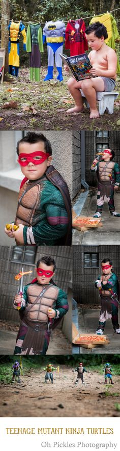 This is the Teenage Mutant Ninja Turtle themed shoot I did for a little guy who loves dressing up as Heroes. #ohpicklesphotography #cypresstexas childrensphotographer