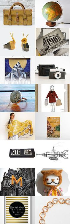 Dream Travel - inspired Etsy Finds to travel the world without leaving the sofa.