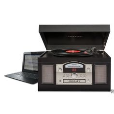 Usb Record Cd Player Turntable Recorder Crosley Home Shelf Stereo System