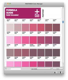 Pantone Color Manager pour mac