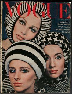 Clockwise from top: Sue Murray, Moyra Swan and Jill Kennington, photo by David Bailey. Vogue England, 1965