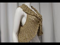Chaleco Bolero Crochet tutorial paso a paso - YouTube