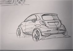 """121 Likes, 1 Comments - Young-Hoon Cho (@cube1005) on Instagram: """"Smart Sketch #car #sketch #cardesign #smart #fortwo #mercedesbenz #mercedes #art #design…"""""""