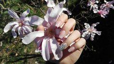 Nails, fake nails, babyboomer, crystals, nail design