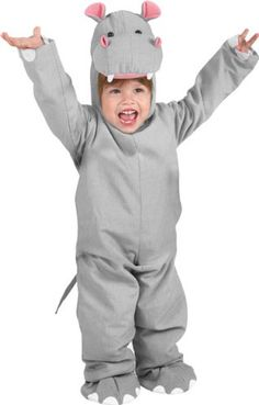 We can TOTALLY get on board with this hippo Halloween costume. Button & Genny approved ;)
