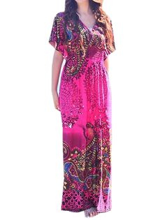 http://www.buytrends.com/Products/rich-colored-printed-deep-v-neck-short-sleeve-elastic-waist-bohemian-long-a-line-maxi-dress-36840.html ?sign=007_pinterest_GF70777007