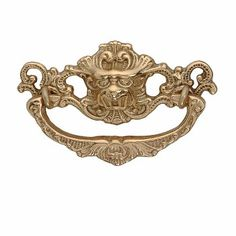 Victorian #Cabinet #Pull Drawer Handle Lifetime Finish Brass # 49019 Shop --> http://www.rensup.com/Cabinet-Pulls/Cabinet-Pulls-Bright-Solid-Brass-Solid-Brass-Dragon-Cabinet-Pull/pd/49019.htm