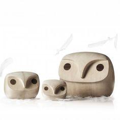 #design3000 Dekofigur Howdy Owl - handgefertigte Eule aus Lindenholz von Menu.