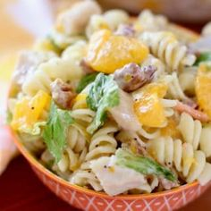 Orange Chicken Pasta Salad w/Orange Poppyseed Dressing - This salad can really be a whole meal, plus it tastes like summer! It's not too heavy & the orange poppyseed dressing sets it all off without drowning out all the other flavors! Poppyseed Dressing Recipe, Orange Chicken, Country Cooking, Chicken Pasta, Chicken Salad, Chicken Casserole, How To Cook Pasta, The Fresh, Pasta Salad