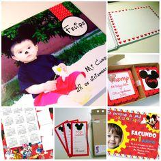 Ratón Mickey ♥ Calendarios ♥ Invitaciones ♥ Libro de Firmas ♥ Imanes ♥ Tags by faire part invitaciones https://www.facebook.com/FairepartInvitaciones