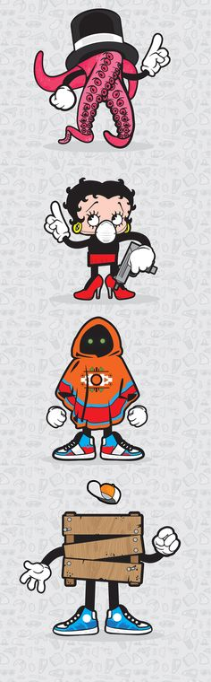Character design 2 by Justyna Olejniczak, via Behance